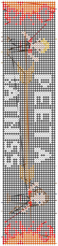 Hunger Games friendship bracelet pattern number 12449 - For more patterns and tutorials visit our web or the app!