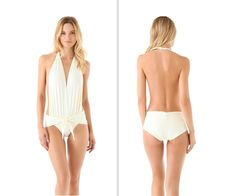SO sexy!!! White one piece bathing suit