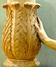 Agrell Architectural Carving: Hand carved column