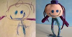 how amazing! to get your child's drawing turned into a plush toy