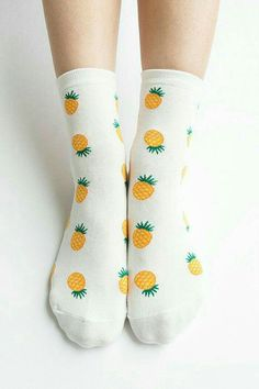 Women New Must Have Hezwagarcia World& the Cutest Pineapple Pattern High Quality Cotton Cozy Ankle Socks Pineapple Socks, Cute Pineapple, Pineapple Pattern, Pineapple Print, Looks Style, My Style, Foot Warmers, Tights, Leggings