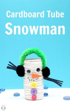 Wonderfully fun and easy. This winter kids activity is defiately worth making at least once!! Super cute recycled craft idea! #snowmancraftforkids #kidswintercraftideas #wintercrafts #recycledcrafts #toiletrollcrafts #cardboardtubecrafts #cardboardtubesnowman #easytoiletrollcrafts