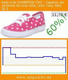 Keds Kids CHAMPION CVO - Zapatos con cordones de lona niña, color rosa, talla 26.5 (Ropa). Baja 60%! Precio actual 11,70 €, el precio anterior fue de 29,51 €. https://www.adquisitio.es/keds-kids/champion-cvo-zapatos-7