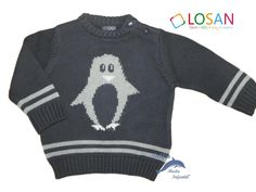 Jersey niño tricotosa con dibujo color azul marino
