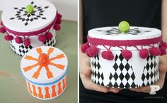 Decorate paper boxes