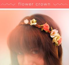 DIY flower crown by song and dance/ I love the little chains she added, too.