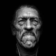 ArtStation - Danny Trejo, by Dmitrij Leppée.More Characters here. Famous Portraits, Celebrity Portraits, Zbrush, Danny Trejo, Silly Faces, Man Up, Black And White Portraits, Hollywood Actor, Interesting Faces