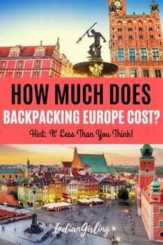 Plan on backpacking Europe soon? It doesn't have to be as expensive as you think. This post includes a detailed budget break down including flights, hotels, sightseeing, local transport, food and shop Backpacking For Beginners, Backpacking Europe, Europe Travel Tips, European Travel, Travel Guides, Travel Destinations, Travel Hacks, Travel Info, Budget Travel