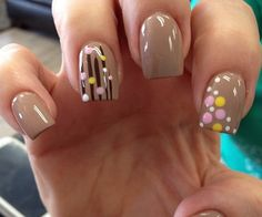 Nude nails with a twist Tan Nails, Love Nails, How To Do Nails, Pretty Nails, Hair And Nails, Funky Nails, Manicure E Pedicure, Mani Pedi, Nail Envy