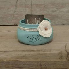 Mason Jar Business Card Holder, Rustic Mason Jar Business Card Holder, Coworker Gift, Mason Jar Office Decor, Mason Jar Jewelry Holder