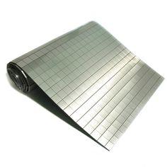 """Brushed Aluminum"" Microflex Tile Roll 6"" x 19"""