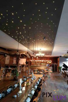 Das Hotel Reich am Ebnisee hat mit dem LED Sternenhimmel von PIXLUM ein ganz besonderes wohlfühl Ambiente für seine Gäste geschaffen. Essen und Trinken unter Sternen. Überzeugt euch selbst und genießt die behagliche Atmospähre im Almrestaurant Himmelreich. Das Hotel, Restaurant, Basketball Court, Led, Lighting, Drinking, Eten, Twist Restaurant, Diner Restaurant