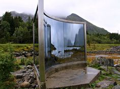 "Artscape Nordland is an international art project intended to make up for the lack of art museums in Nordland county (which includes Lofoten). When the project launched in 1992, Nordland's residents had to travel long distances to see modern art, so one location-specific sculpture each was planned for 32 of the 45 municipalities. Lofoten is home to five of them, including Dan Graham's ""Uten Titel"" (""Untitled""), which captures the light and landscape in its two-way mirror, placing the viewer…"
