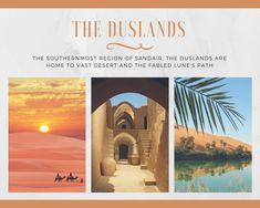 The vast desert of Sandair, where our story begins.