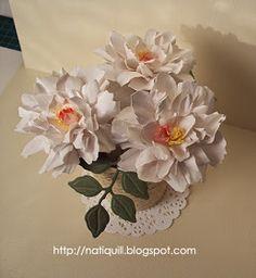 NatiQuill Blog: Tattered Florals Tutorial