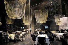 Cavalli-Club-Opening-in-Dubai - Armani Hotel Buddha Bar Dubai, Armani Hotel Dubai, Restaurant Design, Restaurant 2, Commercial Design, Beautiful Space, Best Hotels, Event Decor, Illustration