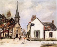 Maurice Utrillo Eglise De Couchey oil painting reproductions for sale