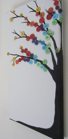 Rainbow button tree :)