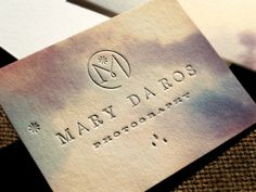 Mary Da Ros Photography stationery by Eric Kass Corporate Design, Business Card Design, Creative Business, Web Design, Logo Design, Creative Design, Kreative Jobs, Bussiness Card, Letterpress Business Cards