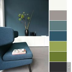 Home Design Logo Color Schemes 23 Ideas Green Color Schemes, House Color Schemes, Blue Colour Palette, Living Room Color Schemes, House Colors, Colour Palettes, Interior Color Schemes, Interior Design, Blue And Green Living Room