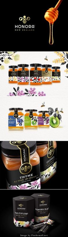 Honora Honey. Agency: Curious Design. Designer: Monique Pilley: