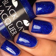 Black Cat Lacquer ~ Blue My Mind (Llarowe A Box Indied for April 2015 - still in burrito) [glitter in crelly finish]... $13.00...