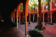 Typical architecture and layout for the Hacienda Benazuza - Seville, Andalucia