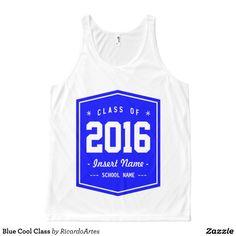 Blue Cool Class All-Over Print Tank Top Tank Tops