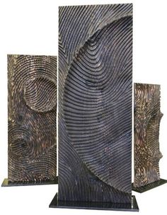 Etienne moyat wooden totem Ref : 138 Stone Sculpture, Art Sculpture, Abstract Sculpture, Wall Sculptures, Wooden Art, Wood Wall Art, Stone Carving, Wood Carving, Contemporary Sculpture