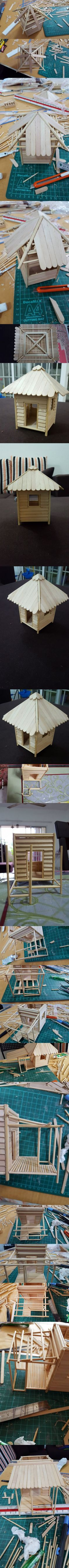 Step by Step to Make a Mini Beach Hut Part 2 - 9GAG