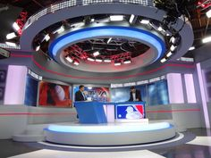 Explore photos of TVA Sports's TV set design in this interactive gallery of the studio. Pigeon Logo, Tv Set Design, Exhibit Design, Museums, Rooms, Facts, Display, News, Studio
