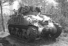 A Sherman armored recovery tank