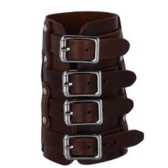 Novelty & Special Use Costume Props Cheap Price Esihou Rivet Middle Ages Cosplay Props Style Punk Rock Leather Wrist Strap Cuff Acc Wrist Support Guard Moderate Cost