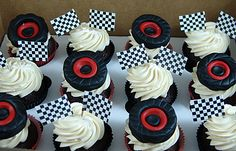 If you are shopping online in Queens, NY, for custom birthday cakes- you've come to the right place. 17 Birthday Cake, Custom Birthday Cakes, Race Car Birthday, Cars Cake Pops, Cars Theme Cake, Cupcakes For Boys, Car Cupcakes, Cupcake Cakes, Monster Truck Cupcakes