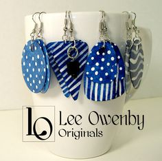 Art by Lee Owenby, noted for acrylics, watercolors, ink drawings, word art and handmade jewelry. Paper Earrings, Paper Jewelry, Paper Beads, Diy Earrings, Polymer Clay Earrings, Metal Jewelry, Earrings Handmade, Jewelry Crafts, Tribal Jewelry