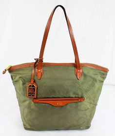 RALPH LAUREN CAVALRY TOTE BAG IN GREEN $148.00 AUTHENTIC EQUESTRIAN HANDBAG in Clothing, Shoes & Accessories, Women's Handbags & Bags, Handbags & Purses | eBay