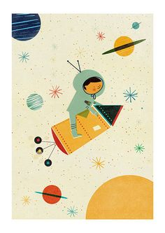 - Illustration by Blanca Gomez. Best Picture For kids - Art And Illustration, Illustration Mignonne, Astronaut Illustration, Art Plastique, Fine Art Paper, Illustrators, Character Design, Character Flat, Artsy