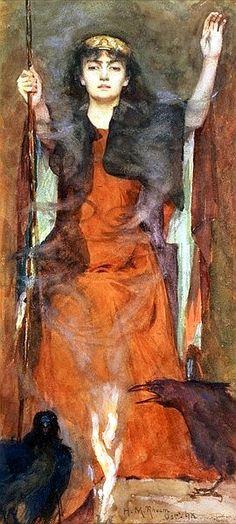 Henry Meynell Rheam - The Sorceress 1898 - Henry Meynell Rheam - Wikipedia