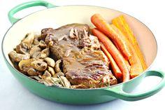 Pot Roast with Balsamic Mushroom Gravy [OCTOBER FEATURED RECIPE]