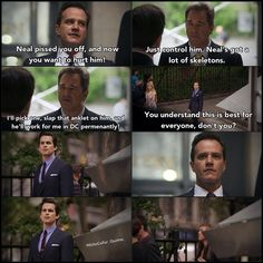 When Peter gabe Neal the signal to run. I loved this episode. White Collar Neal, White Collar Quotes, Matt Bomer White Collar, Covert Affairs, Neal Caffrey, Cops And Robbers, Victoria Secret Outfits, Usa Network, Movie Lines
