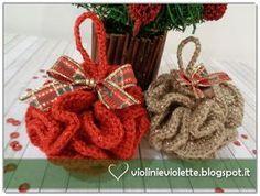 Violini e Violette: Palline di Natale ruffle