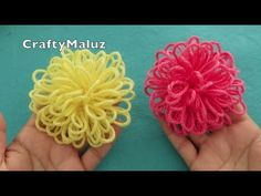 ETVplayvideos - looking and enjoy all the videos online Crochet Bows, Crochet Fall, Crochet Flower Patterns, Crochet Mandala, Crochet Doll Pattern, Freeform Crochet, Crochet Motif, Crochet Flowers, Loom Flowers