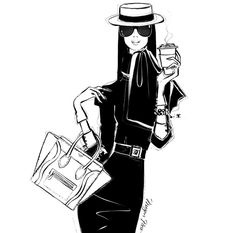 Megan hess illustrations fashion illustrations i love наброс Kristina Webb, Megan Hess Illustration, Illustration Mode, Fashion Prints, Fashion Art, Fashion Beauty, Fashion Posters, Beauty Style, Kerrie Hess
