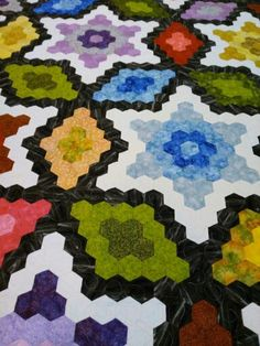 Hexagon Quilt, Hexagons, Quilts, Blanket, Rugs, Home Decor, Leather, Farmhouse Rugs, Decoration Home
