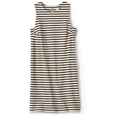 Fossil Bridgette Side Gusset Knit Dress (93 CAD) ❤ liked on Polyvore featuring dresses, tops, vestidos, shirts, linen, knit dress, stripe knit dress, pink stripe dress, shift dress and stripe shift dress