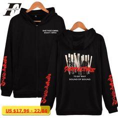 LUCKYFRIDAYF Hot Sale BTS Sweatshirt Hip Hop Jacket Unisex Warm Coat Women Hoodie Sweatshirt Zipper Bangtan Boys Tour Coat