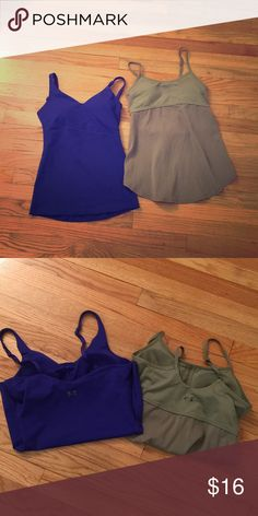 2 Under Armour tanks XS These are in excellent condition.  Paid about $48 for each.. They seem to run a little bigger than I like though so they are up for sale😍😋 Under Armour Tops Tank Tops