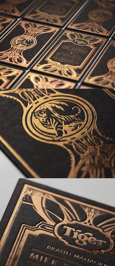 Beautifully Crafted Black And Gold Foil Business Card For A Beer Company