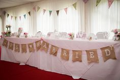 Just married simple but elegant top table