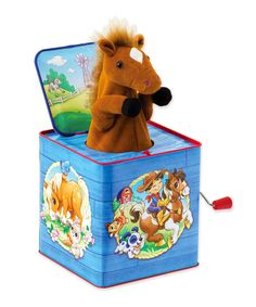 Shop for Schylling Poppin Multicolored Plush Pony Jack In Box Toy. Get free delivery On EVERYTHING* Overstock - Your Online Toys & Hobbies Shop! Baby Bug, Traditional Toys, Jack In The Box, Toy R, Musical Toys, Cowboy And Cowgirl, Baby Games, Tin Boxes, Baby Play